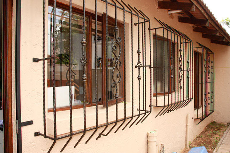 Кованые решетки на окна. Чертежи решеток..